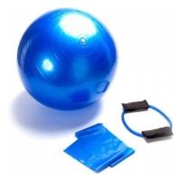 Набор для фитнеса Bradex (фитнес-резинка, мяч 55 см, ленточный эспандер)